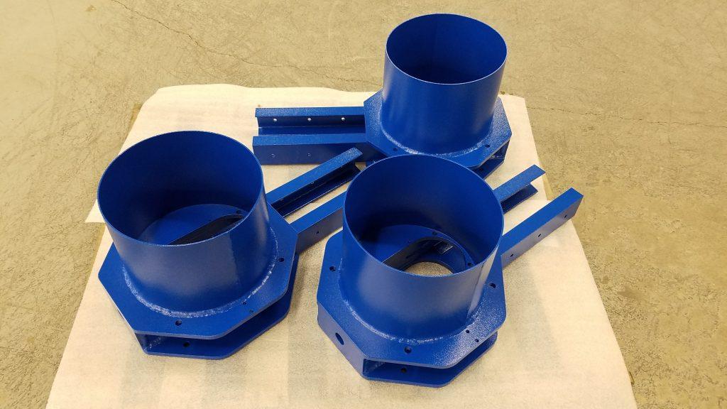 Vessel Chutes - RAL 5005 Signal Blue