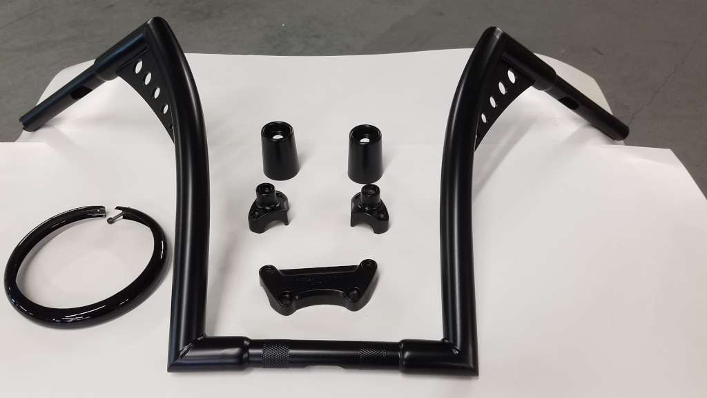 Motorcycle Parts - Semi-Gloss Black / Gloss Black